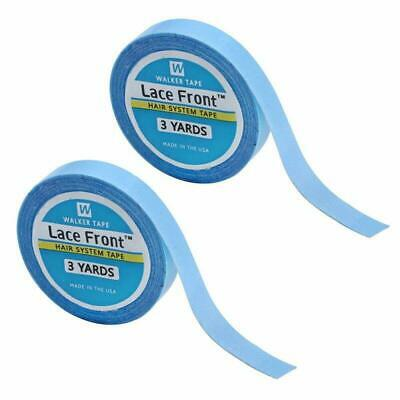 2Pcs Lace Front Wig Support Tape, Hair Extension SalonBlue Tape Double Sided A