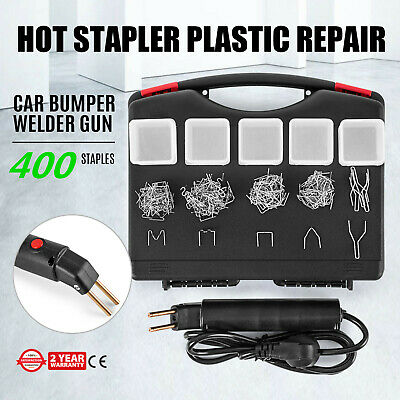 Puller Welder Hot Stapler Plastic Repair Set Bumper Gun LED 400 Staples