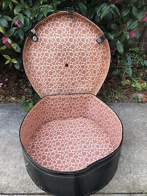 Large Round Vintage Hat Box Made In England