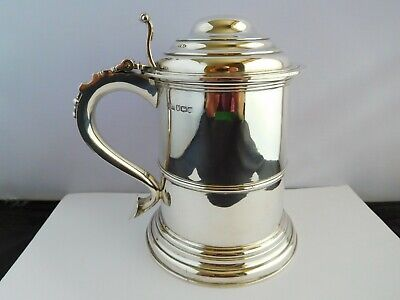 Magnificent English Sterling Silver Georgian Revival Lidded Tankard - 24 Tr. Oz.