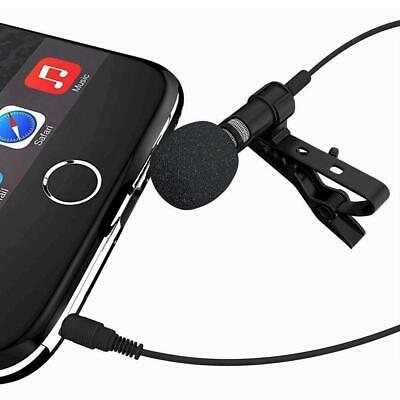 Mini Clip-on Lapel Microphone Hands-free 3.5mm Condenser Wired EH7E 01