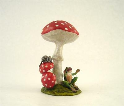 Vienna Bronze FROG MOUSE and MUSHROOM Fly Agaric Bermann Brass Austria Mojo