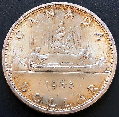1966 Canada 80% Silver $1 Dollar Coin ***Great Condition*** Dot Variety