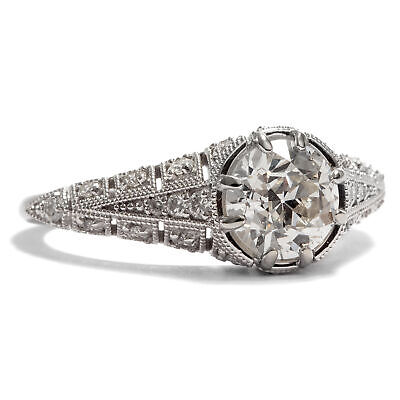1,16 ct Brillant, vsi Diamant Solitär RING in modernem 585er Weißgold, Diamond