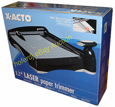 "X-Acto 12"" Laser Paper Trimmer Plastic Base Laser Guillotine Paper Cutter *NEW"