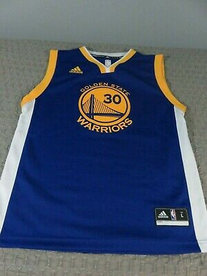 40ab3f7c Adidas Stephen Curry Golden State Warriors Kids Royal Blue Road Jersey EUC