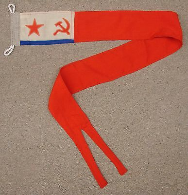 Soviet Russian NAVY CAMPAIGN PENNANT Naval Flag USSR ORIG. 5'Long NICE Condition
