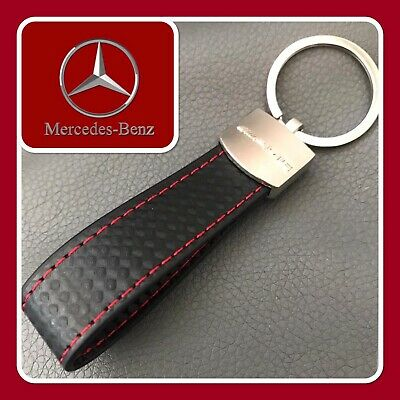 ✅Mercedes Benz✅Genuine Leather Twist Rope Style Keyring Amg A C E Class✅