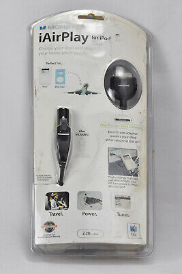 Monster Cable iAirPlay Charger Early Gen iPod / Mini iPod Airplane Travel 30 Pin