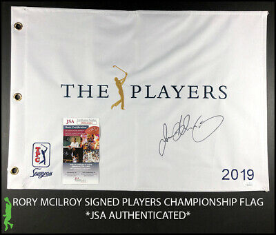 97d405ea Rory Mcilroy Autographed Signed 2019 Players Championship Pin Flag Jsa Coa