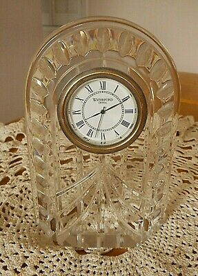 """Vintage Waterford Crystal Overture Mantle Clock ~ 5-1/4"""" Tall ~ Beautiful!"""