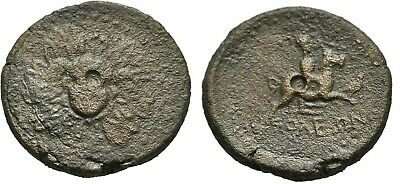 Ancient Greece 2-1 Cent BC CILICIA SOLOI GORGON APHRODITE HORSE