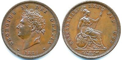 1826 Reverse C - George IV PENNY - Thick Line....VERY RARE...Fast Post