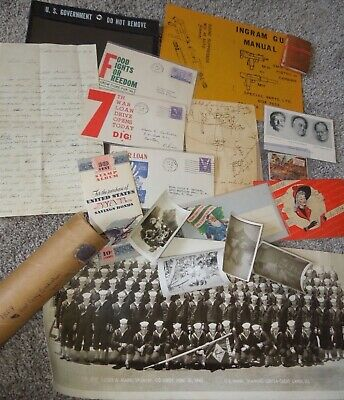 WWII - Post War Random Paper First Day Cover Photo Letter Document Lot