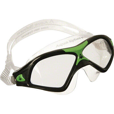 Aqua Sphere Seal XP2 Goggles Black/Green with Clear Lens