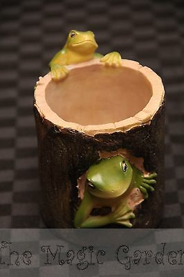 Frog tree pen holder plaster craft resin cement latex moulds molds