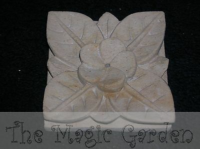 Gorgeous frangipanni incense holder plaster cement resin latex moulds molds