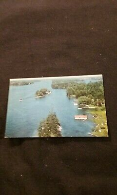 View of St. Lawrence River From American Span Thousand Islands Old Postcard