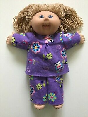 DOLLS CLOTHES to fit 16? CABBAGE PATCH DOLLS *Owls & Flowers~Winter Pyjamas*