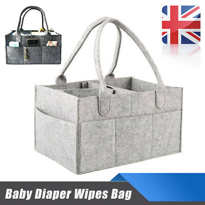 Baby Diaper Wipes Bag Storage Nursery Caddy Bin Infant Nappy Organizer Basket UK