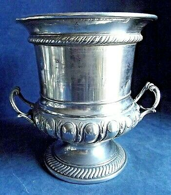 "GOOD Large 10"" ORNATE ~ SILVER Plated ~ CAMPANA Styled ~ Ice BUCKET ~ c1880"