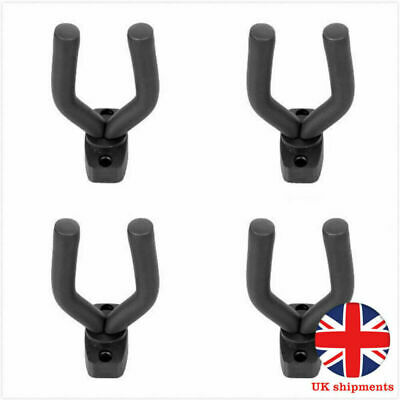 4X Padded Display Mounted Wall Guitar Hanger/Hook/Bracket Bass Electric Acoustic