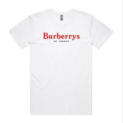 0d9b4f870 Burberry55 of London Red Logo T Shirt Custom Men Woman Unisex Personilized  Tee