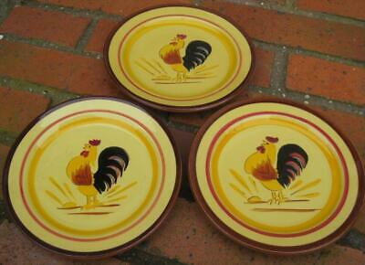 """Three Stangl Pottery Rooster6"""" Plates"""