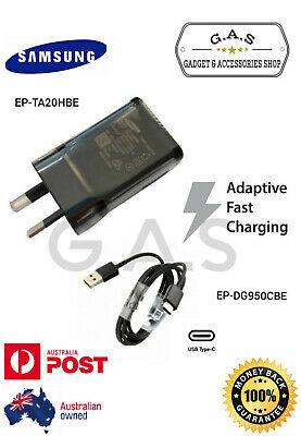 Genuine SAMSUNG Adaptive FAST Wall Charger+Type C cable For Galaxy S9 S8 Note 9