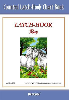 Counted Latch hook Chart - Horses - 90x134 holes  CHART ONLY