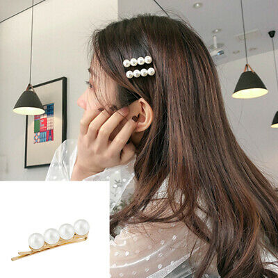 2 Pcs Elegance Girl Pearl Hair clip Hair pin Bobby Barrette Fashion Headwear