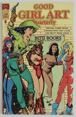 1992 Good Girl Art Quarterly Comic Book Bettie Page Characters & Pin-Up Photos