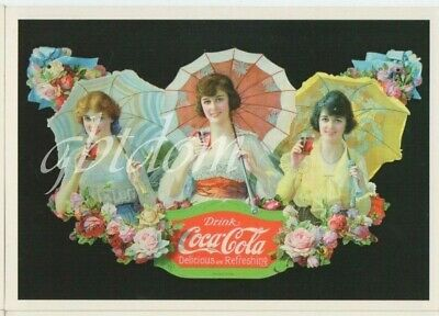 lot de 4 CPM COCA-COLA - Coke - kola - Belle dame du Temps jadis