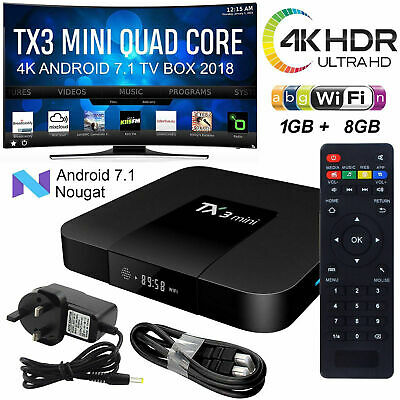 TX3 Mini Android7.1 TV Box Quad Core 1080P Wifi Streaming Media Player 3-10 J3A1