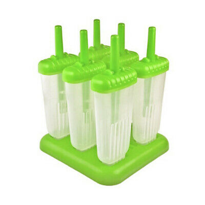 Popsicle Molds Set BPA Free Ice Pop Maker With Sticks and Drip-guards 6 Pcs