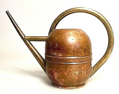 Antique Art Deco Chase Copper & Brass Watering Can by Von Nessen