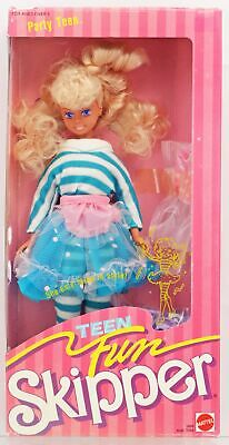 Teen Fun Party Teen Skipper Doll #5899 Never Removed from Box 1987 Mattel, Inc.