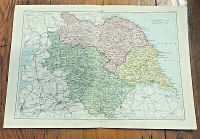 """circa 1880s colour fold out map titled """" york """""""