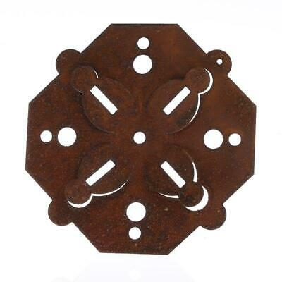 Rusty Tin Octagon Dimensional Snowflakes