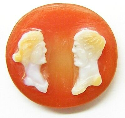 1st - 3rd century AD ancient Roman sardonyx hardstone cameo of a married couple