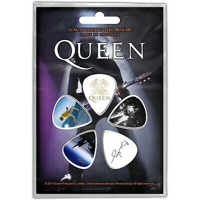Official Licensed Merch 5-PLECTRUM PACK 1mm Guitar Picks QUEEN Brian May