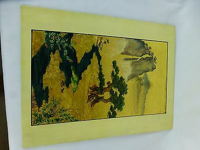 """Unusual gilt chinese hand-made ? art 12""""  [Y8-W7-A8]"""