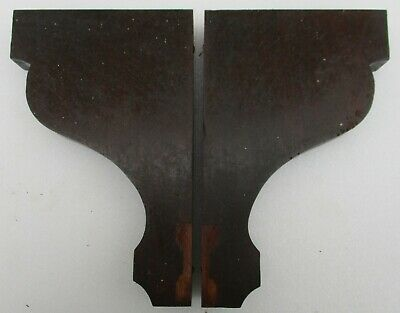"ANTIQUE VICTORIAN SOLID WALNUT CORBELS SHELF BRACKETS 10 1/4"" high X 6 1/2"" deep"