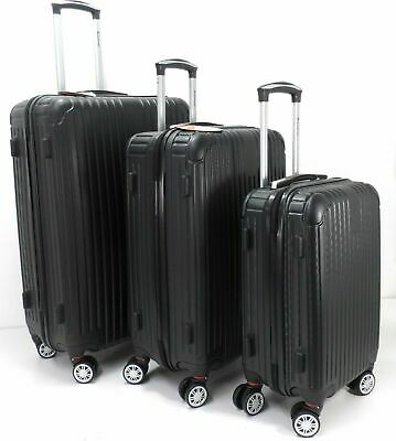 Set Of 3 Lightweight Hard Shell 8 wheel Spinner Luggage Suitcases Trolley Case B