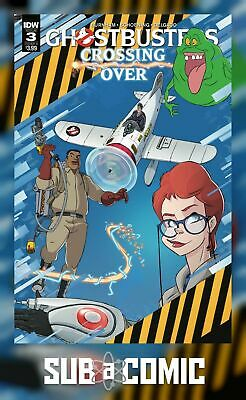 GHOSTBUSTERS CROSSING OVER #3 COVER A SCHOENING (IDW 2018 1st Print) COMIC