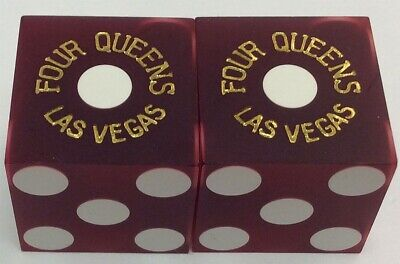 Casino Dice - Four Queens Hotel Pair Used Matched Dice Las Vegas Nv - Free S/H *