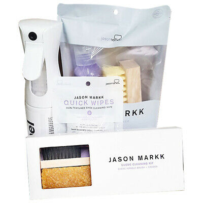Jason Markk Unisex Repel Spray, Essential Kit, Suede Kit and Shoe Wipes White...