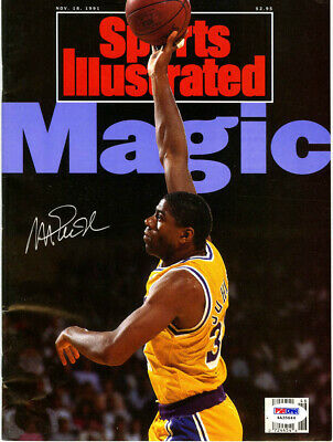 5dc9a278b4f Magic Johnson SIGNED Full Sports Illustrated NL ITP Lakers PSA DNA  AUTOGRAPHED