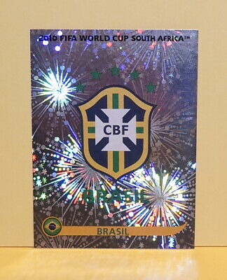 2010 Panini FIFA World Cup South Africa Album Stickers 487 Emblem Brasil Brazil