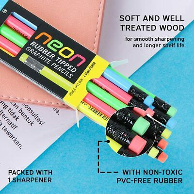 Drawing & Lettering Supplies Neon Colored Pencils 12/Pkg 090672358790 Crafts